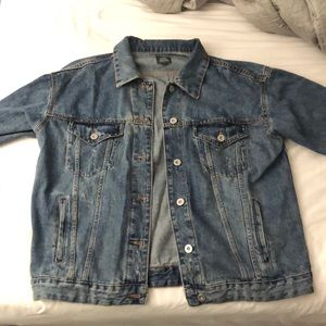 Wild Fable Distressed Denim Trucker Jacket